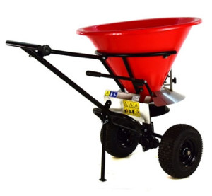 pull behind fertilizer spreader